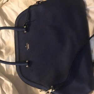 Large Kate Spade New York purse, navy blue